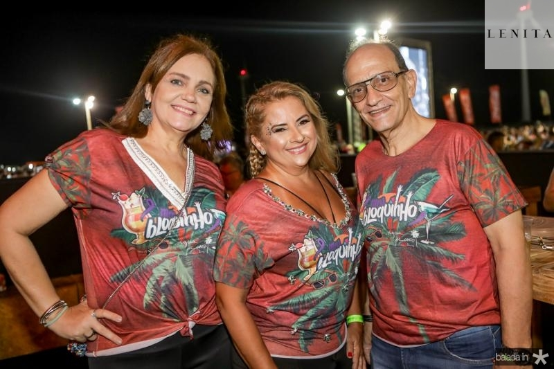 Andrea Paiva, Beth Pinto e Edson Lima