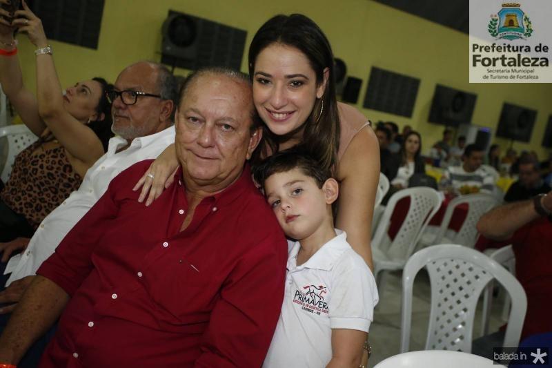 Rafael, Silvinha e Sylvio Leal
