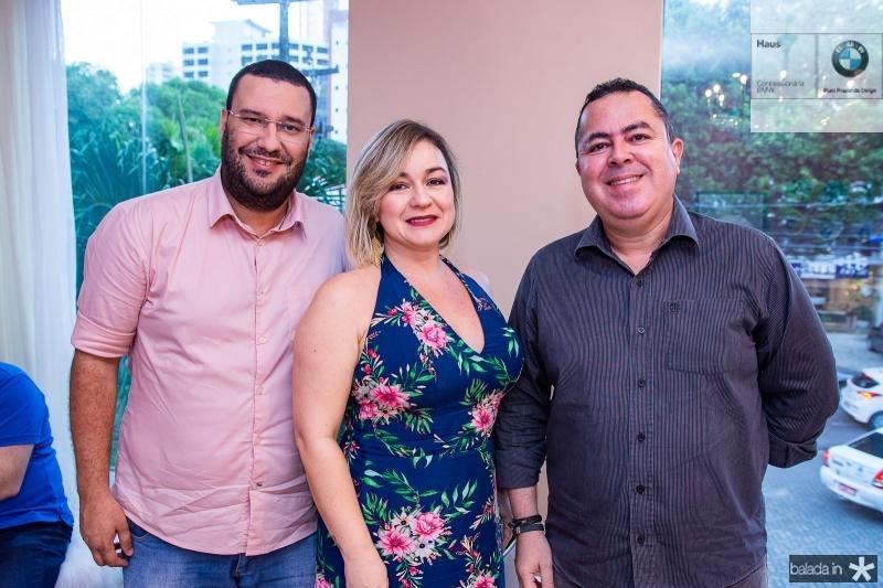 Tibeiro Moura, Juliana Emidio e Marcelo Sobreira