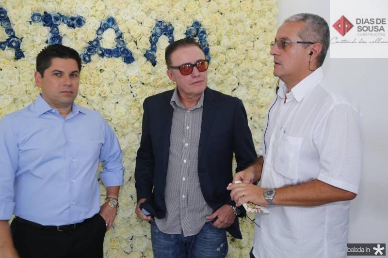 Pompeu Vasconcelos, Darlan Leite e Marcelo Cabral