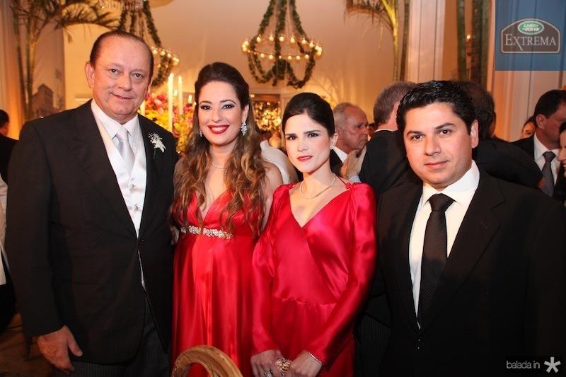 Rafael e Silvia Leal, Marilia e Pompeu Vasconcelos
