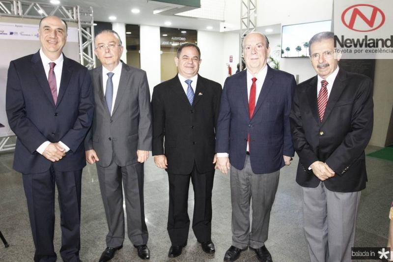 Marcos Atchabahian, Antonio Jose Mello, Lavanery Wanderley, Claudio Conz e Egidio Serpa