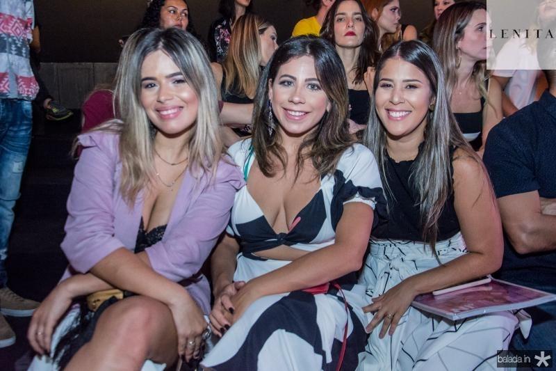 Leticia Freire, Naitla Silva e Amanda Costa