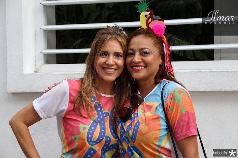 Eliziane Colares e Michele Ribeiro