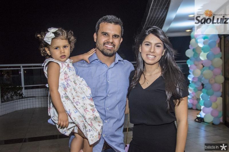 Luiza, Germano e Nathalia Braga