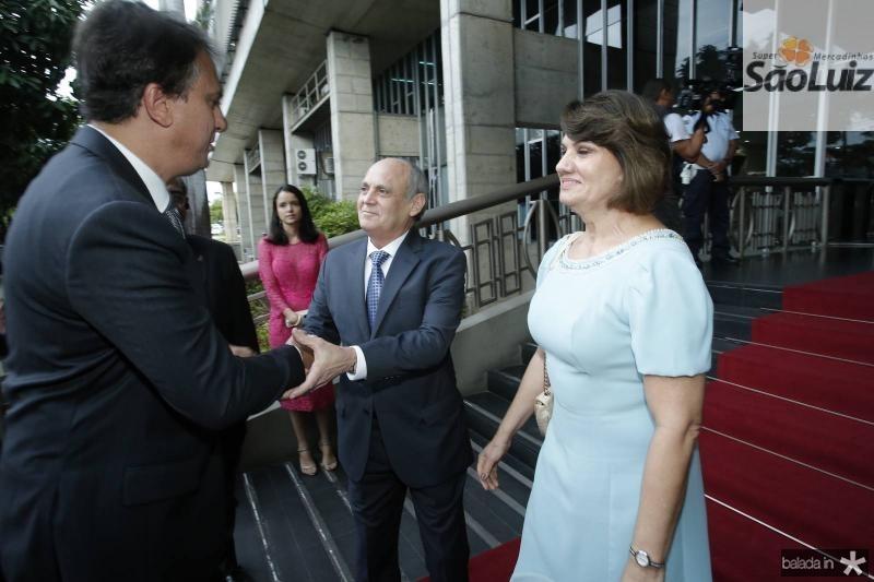 Camilo Santana, Gladyson e Neide Pontes