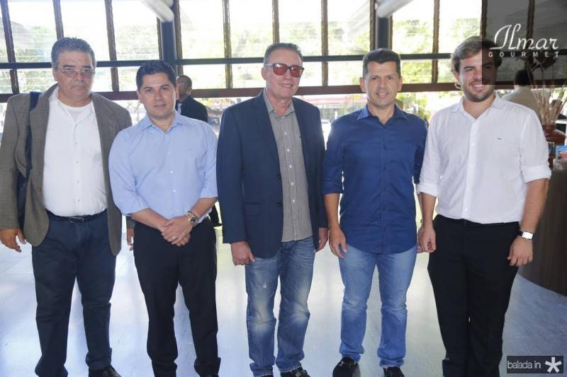 Osterne Feitosa, Pompeu Vasconcelos, Darlan Leite, Erick Vasconcelos e Claudio Nelson