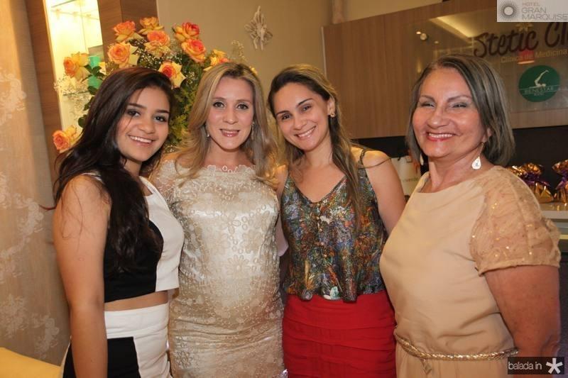 Emilly Maia, Olga Saraiva, Denise Maia e Cid Martins