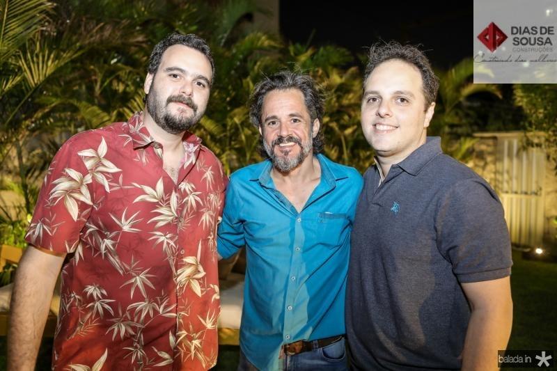 Rodrigo Leal, Carlos Lebran e Daniel Aragao