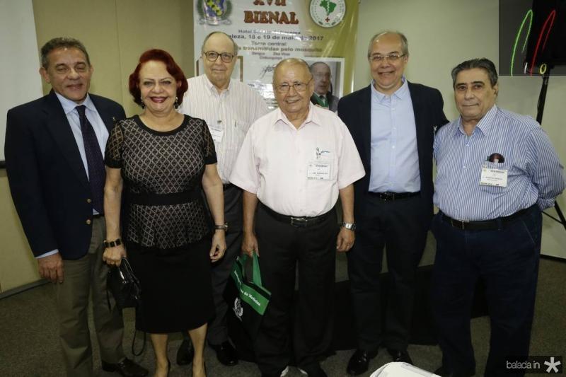 Eurico Arruda, Marcia Alcantara, Jose Evangelista, Ary Ramalho, Roberio Leite e Roberto Misici
