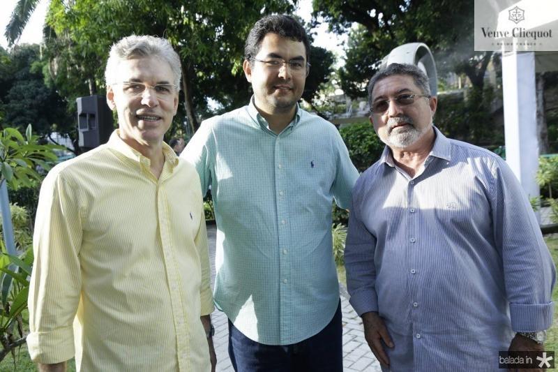 Mario Fracaloci, Iraguassu Teixeira e Claudio Ricardo
