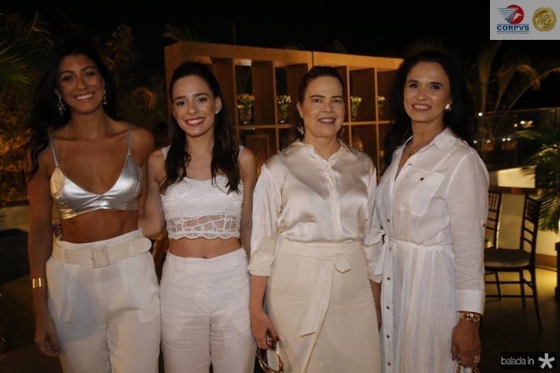 Paloma Fiuza, Gabriela e Izabella Fonseca e neuza Rocha
