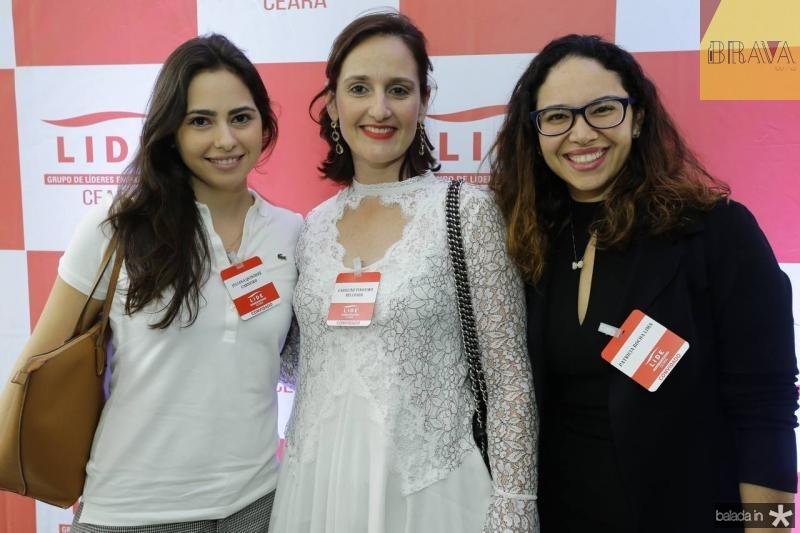 Juliana Quindere Carneiro, Carol Belchior e Patricia Rocha Lima