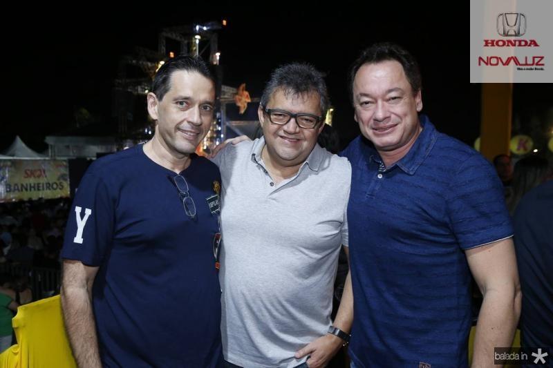 Andre Camurca, Roberto Costa e Pedro Neto