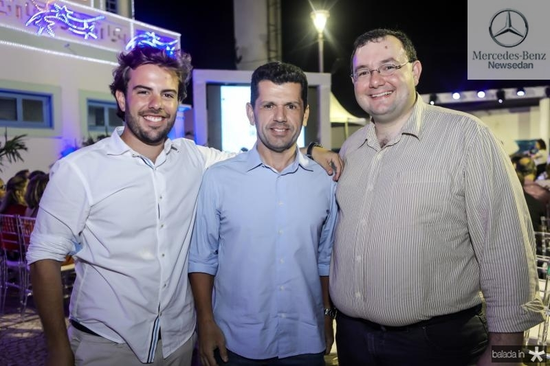 Claudio Nelson, Erick Vasconcelos e Henrique Lustosa