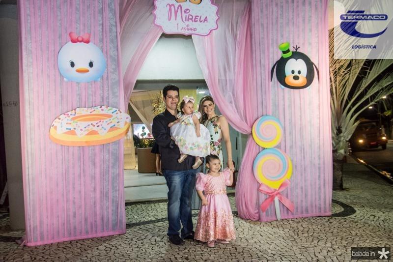 Marco, Mirela, Melissa e Elaine Oliveira
