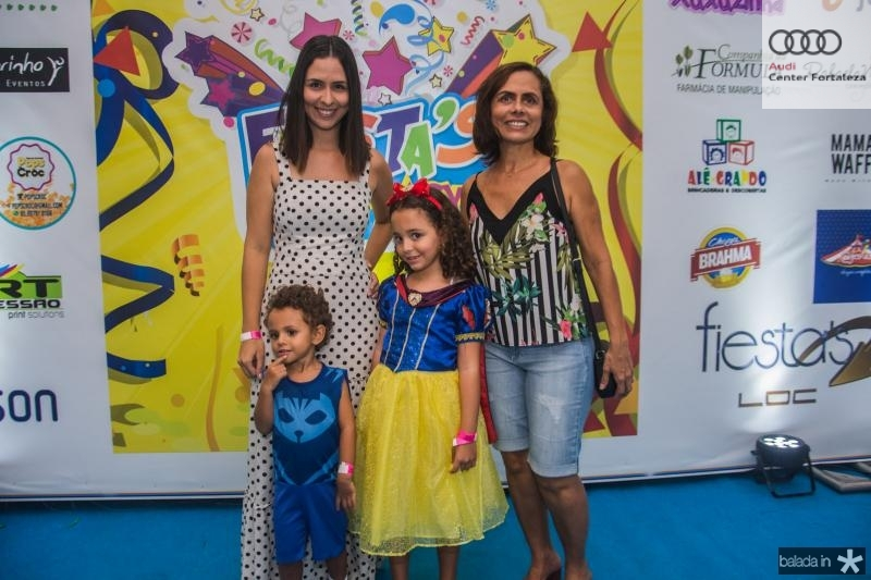Lucas, Milena, Leticia Guidolin e Rose Pires