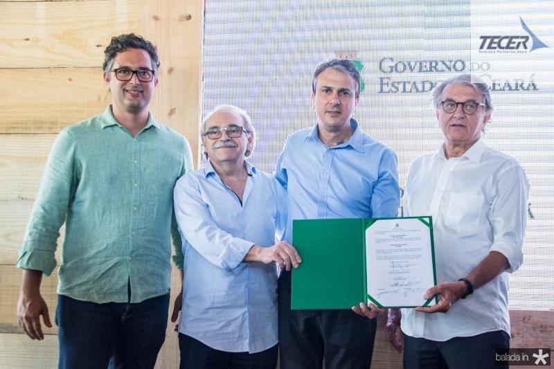 Murilo Pascoal, Ednilton Soarez, Camilo Santana e Arialdo Pinho