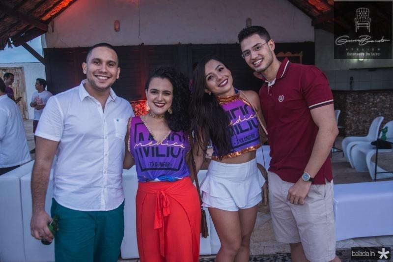 Andre Sousa, Sarah Oliveira, Laysa Garcia e Douglas Arruda