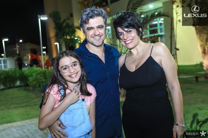 Tereza, Fabio e Daniela Monteiro