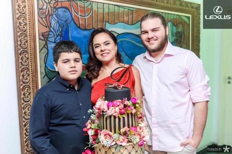 Lorenzo, Denise e Leopoldo Cavalcante