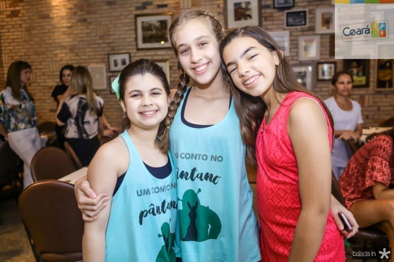 Sarah Brigido, Marta Pontes e Isabelle Holanda