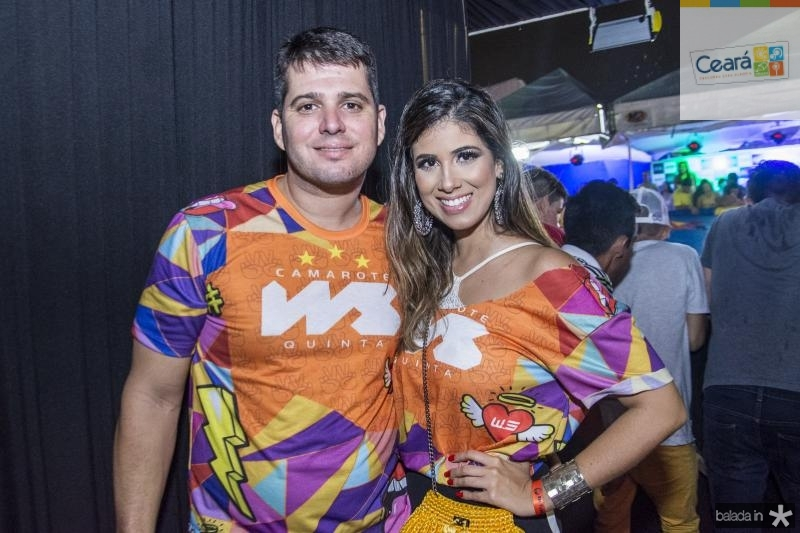 Newton Bastos e Larissa Ximenes