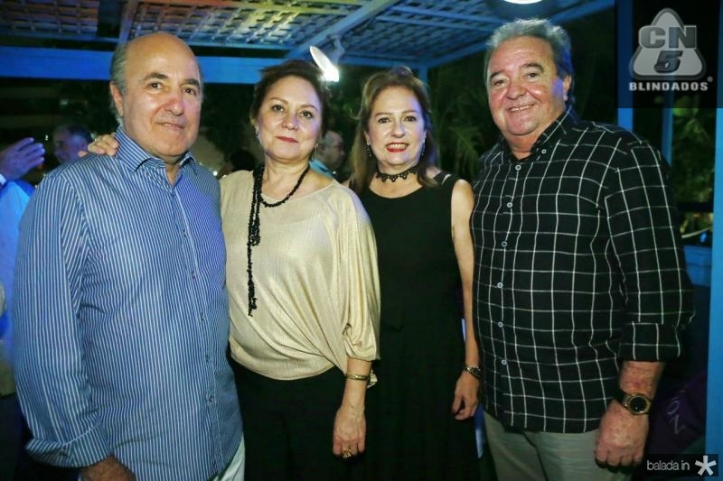 Silvio e Paula Frota, Cristina e Chiquinho Aragao