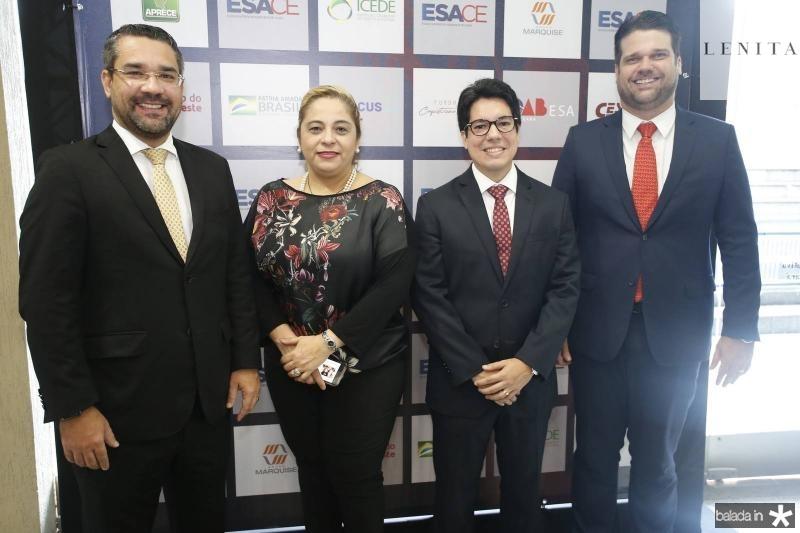 Savio Aguiar, Francisca Castelo Branco, Andrei Aguir e Pedro Bruno