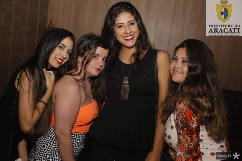Livia Aires, Leticia Pinheiro, Michelle Melgar e Raquel Cordeiro