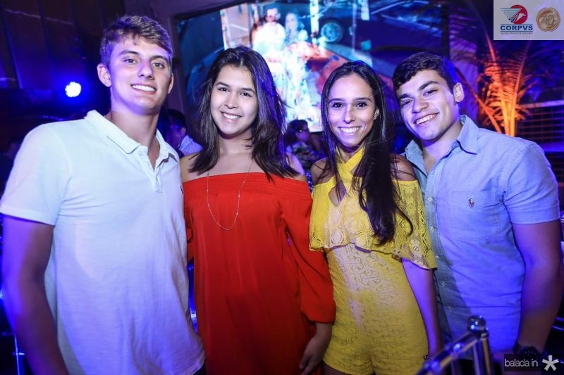 Davi Pessoa, Camila Ribeiro, Gabriela Pamplona e Valdomiro Neto