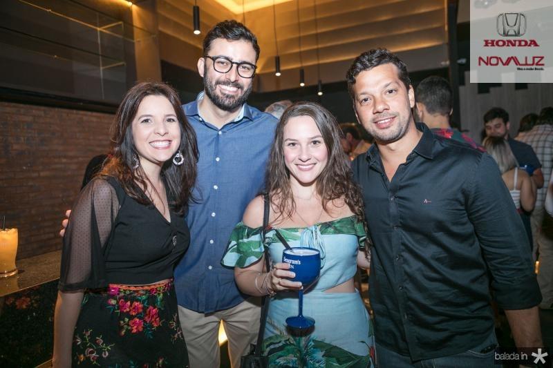 Rafaela Pessoa, Daniel Barroso, Jade Nobre e Alvaro Correia