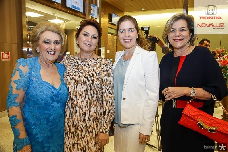 Socorro França, Paula Frota, Ticiana Rolim e Stella Rolim