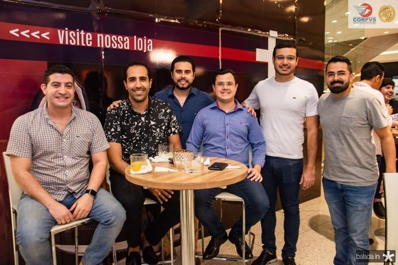Mark Macedo, Danilo Lobo, Rodrigo Nobrega, Rodrigo Melo e Caio Albuquerque