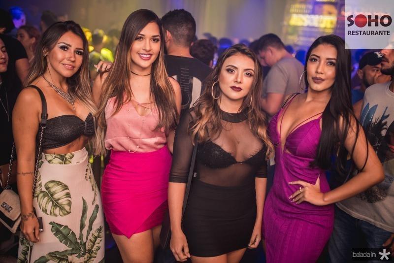 Derla de Cassia, Natalia Shalma, Aline Sousa e Danila