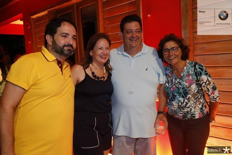 Pedro Neto, Cinthia e Nelson Machado e Lucia Holanda