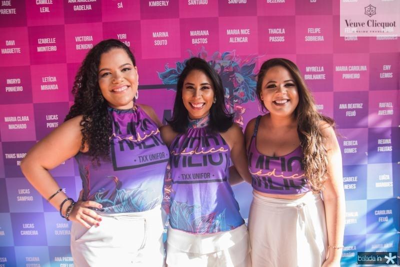 Regina Freitas, Flora Rodrigues e Rebeca Gomes