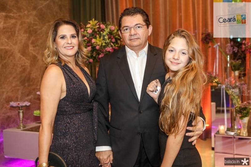 Roberta, Elpidio e Yara Soares