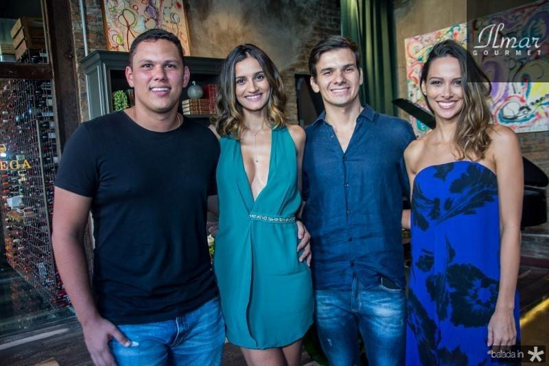 Marcelo Lobo, Lu Palhano, Diego Lira e Laura Saldanha
