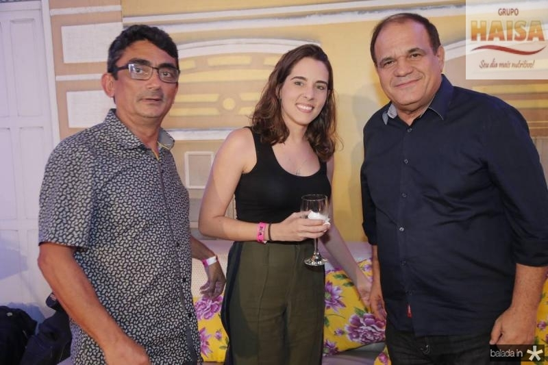 Luiz Carlos Carvalho, Mariana Fontenele e Roberto Moreira