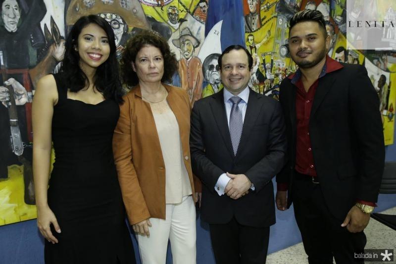 Nayana Vitoriano, Valeria Serpa, Igor Barroso e Leandro Oliveira