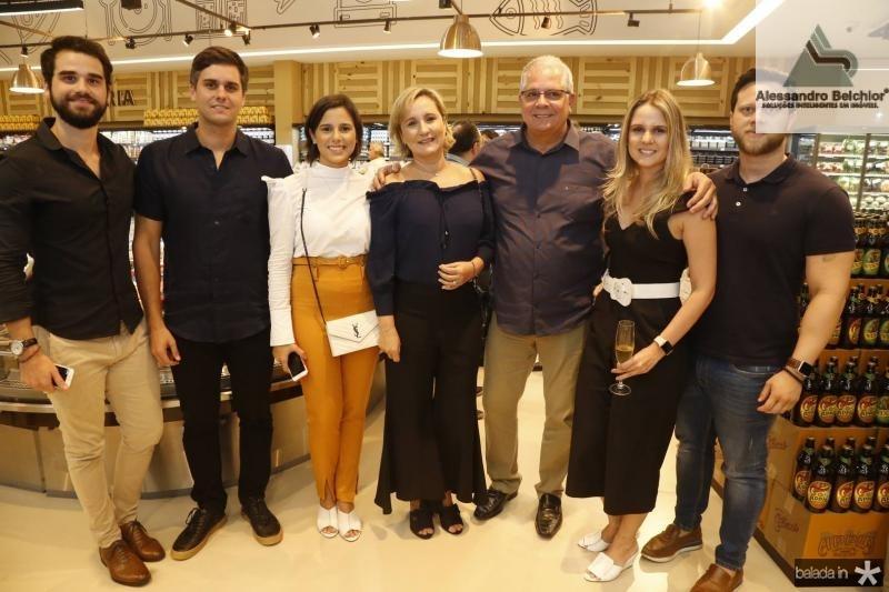 Rafael Neves, Luiz Fernando, Marina, Ana, Fernando e Ana Luiza Ramalho e Diego Lima