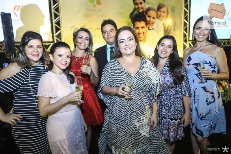 Daniela Kubrusly, Rafaela Castro, Lilian Castro, Clovis Macedo, Andrea Coelho, Renata Marinho e Gabriela Morais