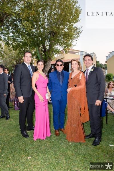 Thiago Holanda, Ticiana Oliveira, Dito Machado, Fatima Camara e Bruno Oliveira e