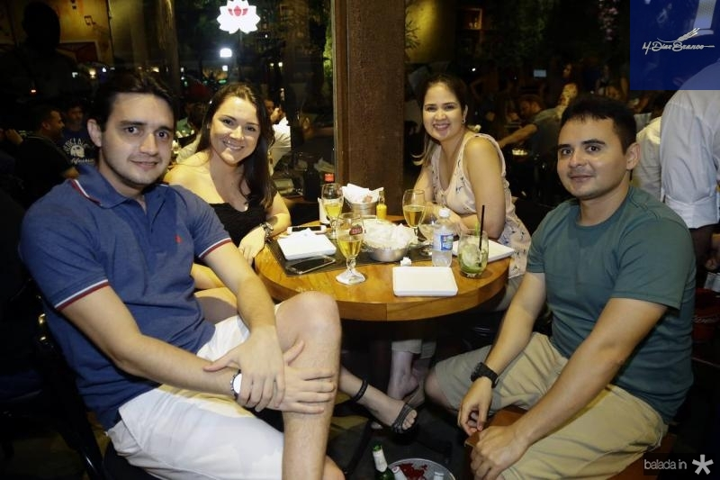 Henderson Cavalcante, Larissa Araujo, Layana Colares e Everrton Bruno