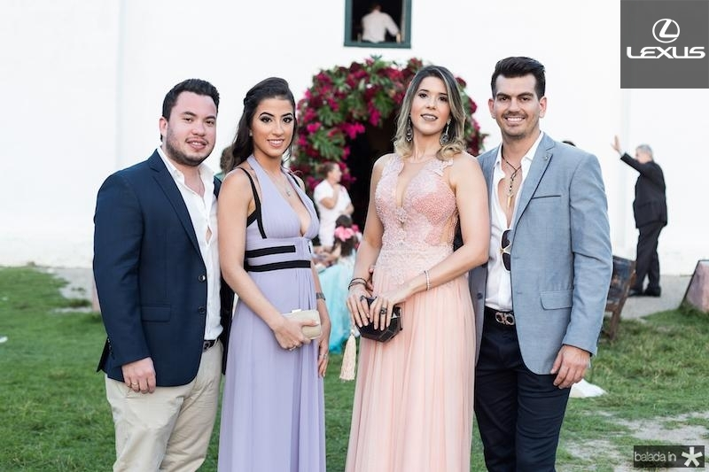 Savio Batista, Manuela Linhares, Vanessa Pessoa e Luiz Feitosa