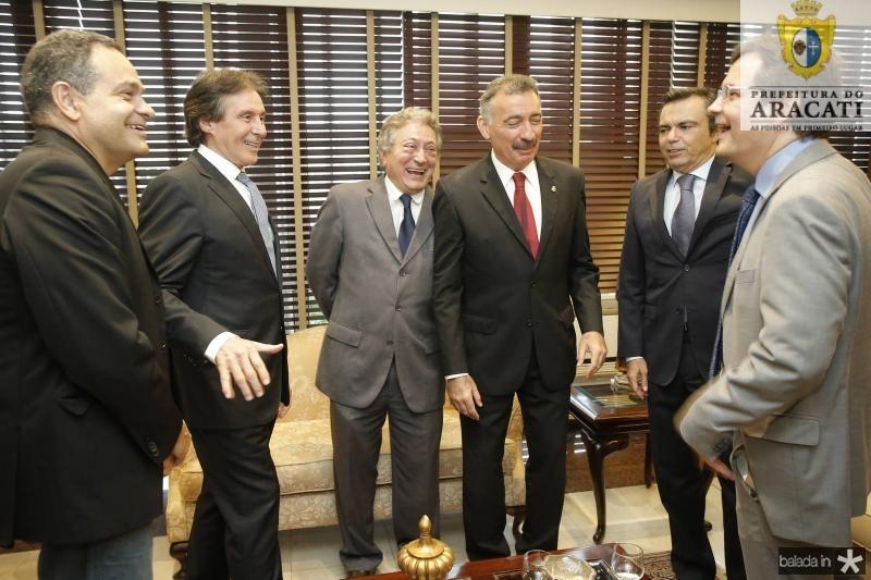 Paulo Henrique Lustosa, Eunicio Oliveira, Euvaldo Bringel, Artur Bruno, Juvencio Viana e Edilberto Pontes