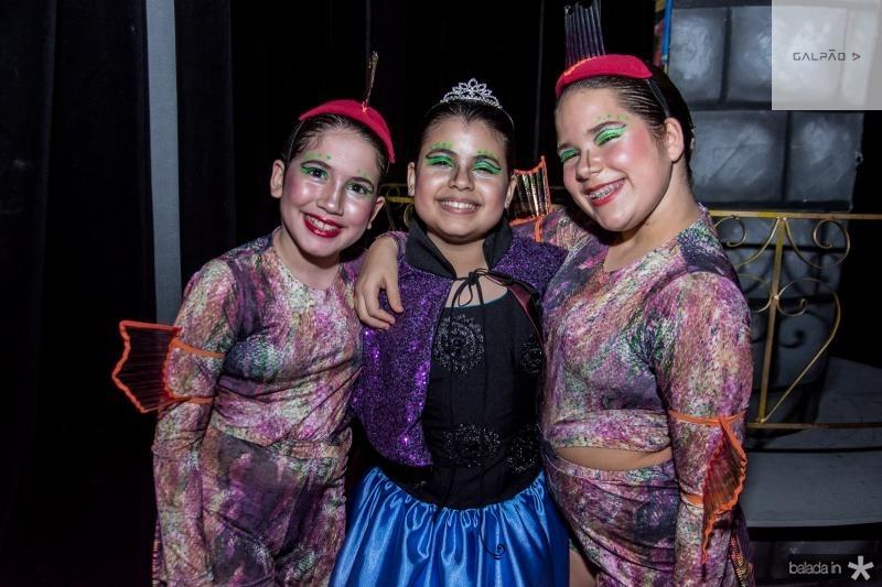 Maria Eduarda, Sarah Brigido e Laís Studart