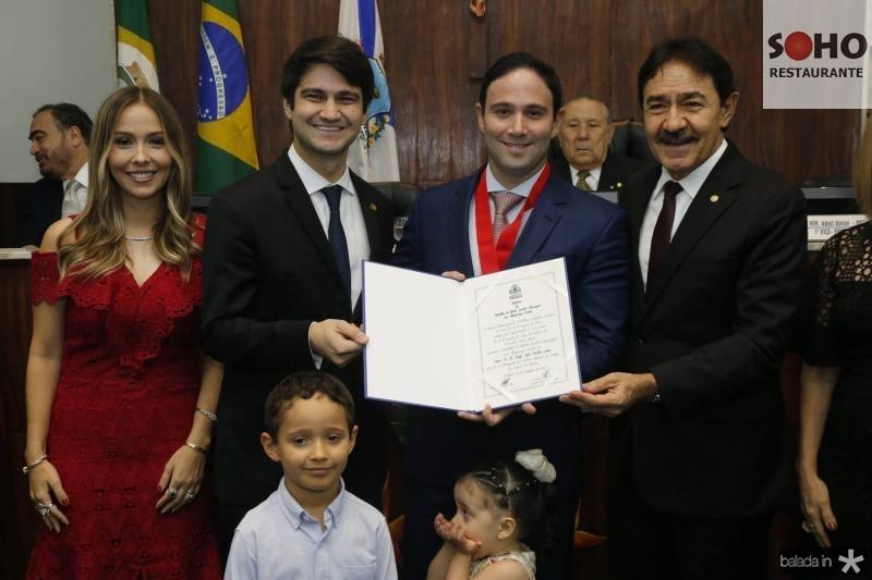 Rafaela Asfor, Pedro Gomes de Matos, Thiago Asfor, Raimundo Gomes de Matos e Luca Asfor 2