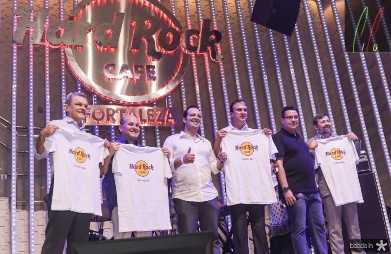 Sarto Nogueira, Roberto Claudio, Rodrigo Ponte, Camilo Santana e Samuel Sicchierolli